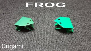 ORIGAMI PAPER FROG. How to make a paper Frog.