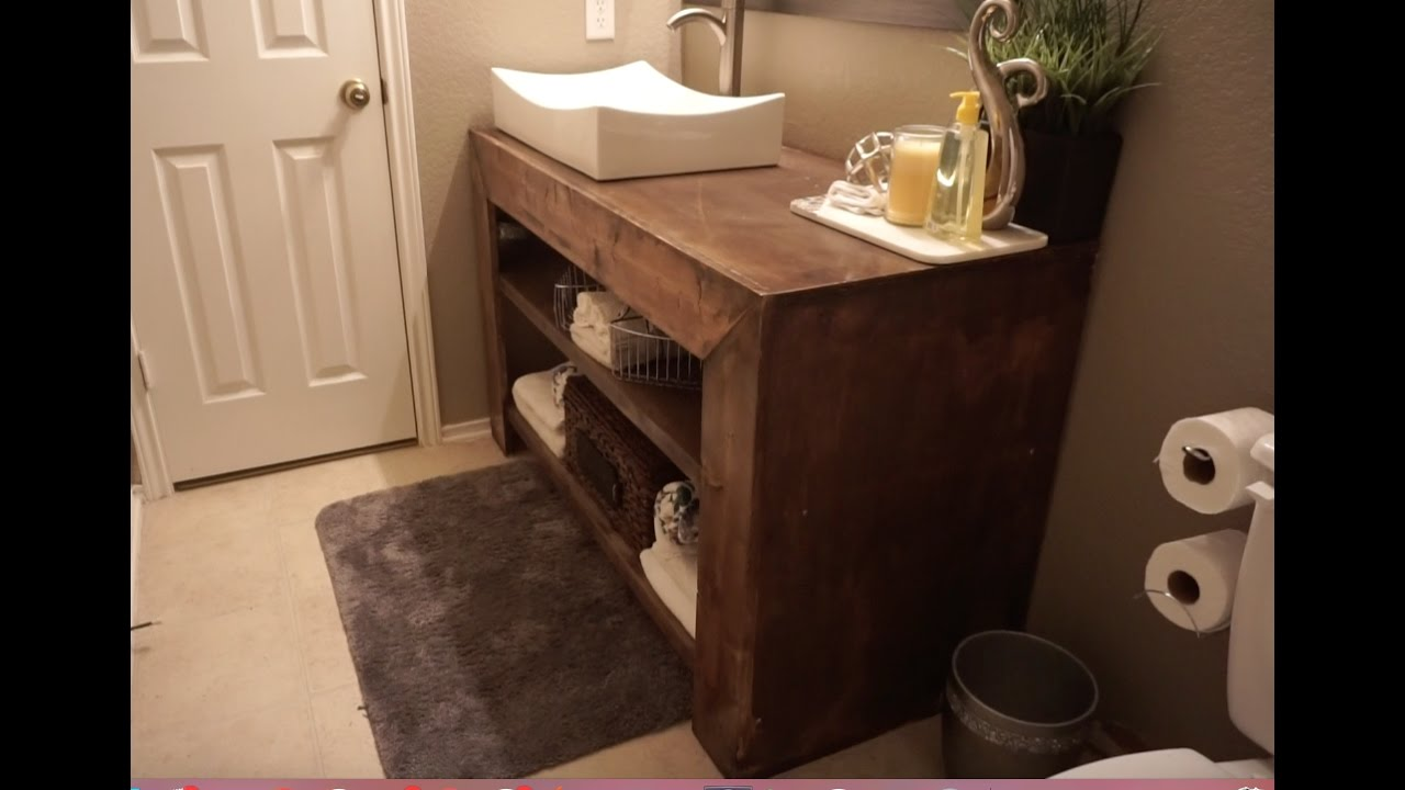 How to build a bathroom vanity  YouTube