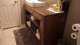 How to build a bathroom vanity