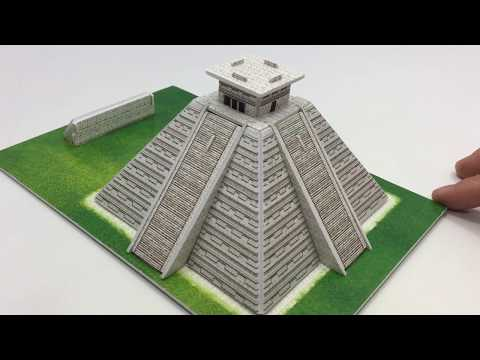 DIY Miniature Maya Pyramid ~ Buildream 3D Puzzle