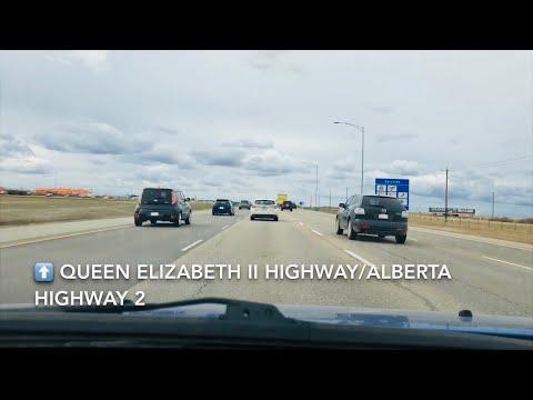Alberta's Busiest Highway Time lapse  - Queen Elizabeth II Highway! (Edmonton - Calgary)