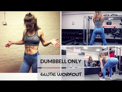 DUMBBELL ONLY GLUTE WORKOUT // Booty Building // Vegan Bulk Ep. 16