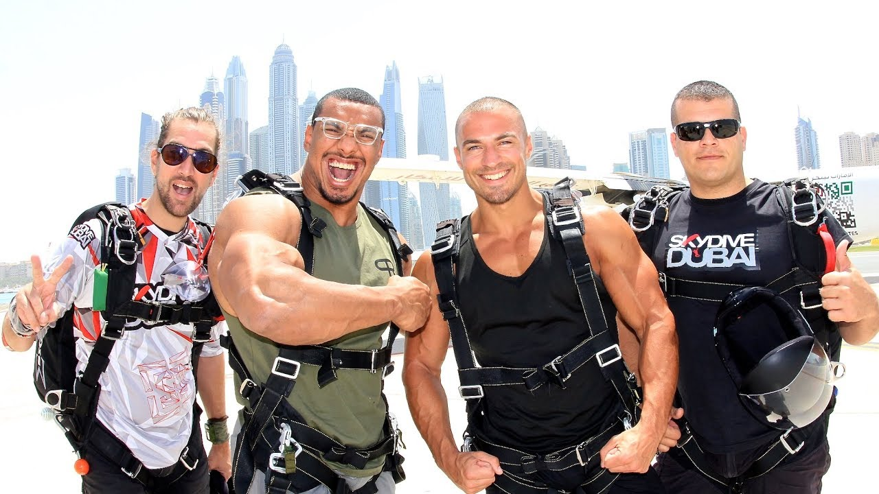 Jumping Out Of A Plane With LARRY WHEELS