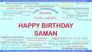Saman   Languages Idiomas - Happy Birthday