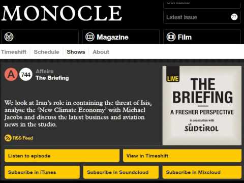 Prof. Gerald Steinberg, Radio Interview with the Monocle (UK), September 16, 2014