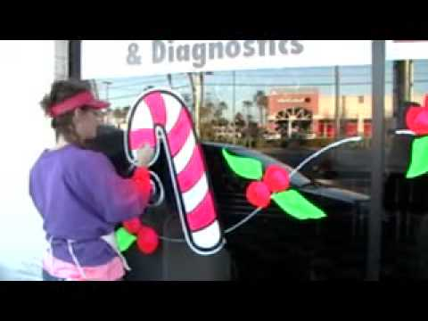Holiday Christmas Window Painting Kim Cooper Youtube