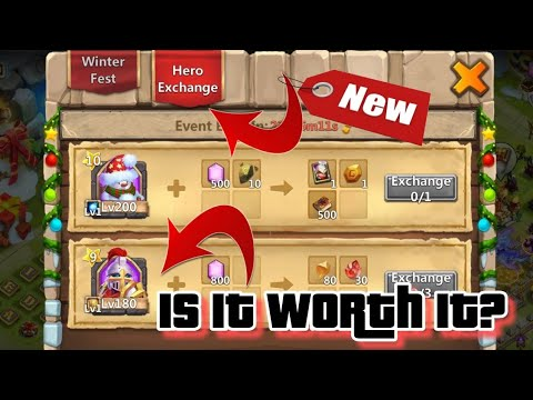 Hero EXCHANGE - How It Works And Is It WORTH It? Castle Clash