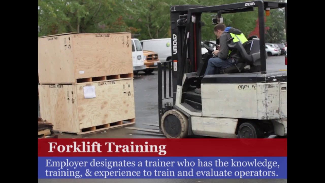 Osha Forklift Operator Training Requirements Youtube