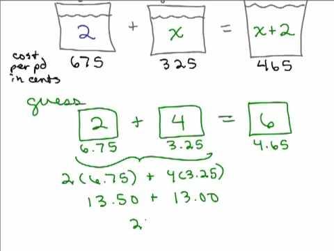 Value Mixture Problem 1