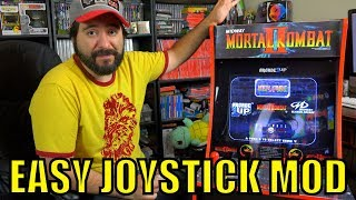 Mortal Kombat Arcade1up Joysticks EASY Mod - Octagon Gate  | 8-Bit Eric
