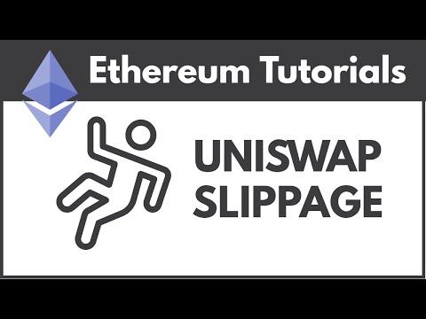 Adjust UniSwap Slippage so Transactions Don't Fail
