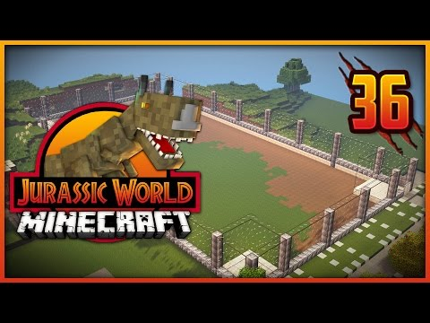 Minecraft Jurassic World - Episode 36 - COMPSOGNATHUS CAGE!