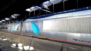 Amtrak HD: Acela Express 2216 At Newark Penn Station (2/22/14)