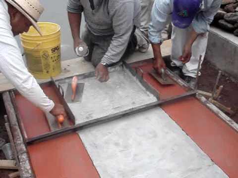 Concreto estampado 5 youtube for Cemento estampado fotos