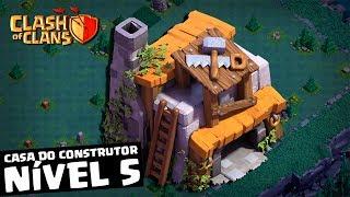 CASA DO CONSTRUTOR #14: UPEI PARA O NÍVEL 5 E NÃO ME ARREPENDI NO CLASH OF CLANS
