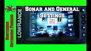 Lowrance Elite 5 Ti Sonar and General Setup Settings