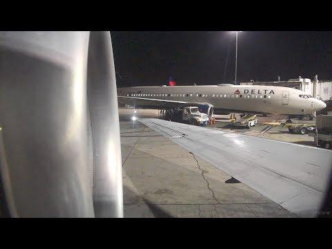 Delta 717-200 Night Flight! LAX-LAS