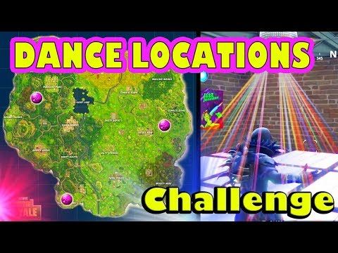 *ALL* 3 DANCE FLOOR LOCATIONS CHALLENGE (Fortnite Battle Royale) (Where To Find)