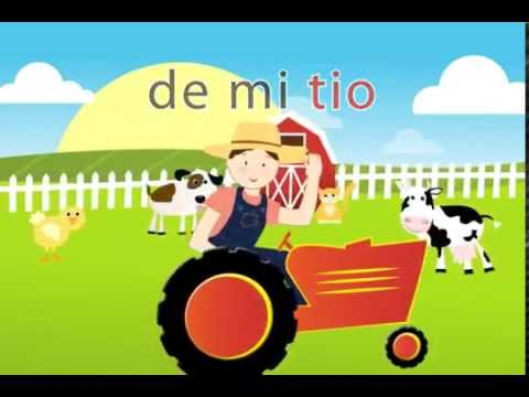 🐷 🐥 🐶 Granja de mi Tio - Spanish Songs for kids with lyrics Canciones español niños Miss Rosi