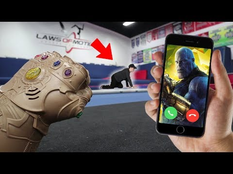 CALLING THANOS ON FACETIME AT 3 AM!! *AVENGERS INFINITY WAR*