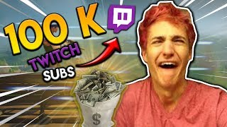 NINJA REACHING 100K TWITCH SUBSCRIBERS! SUMMIT GETTING OUTPLAYED - Fortnite Moments #2