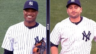 Robinson Cano and Francisco Cervelli get cozy at their new infield positions
