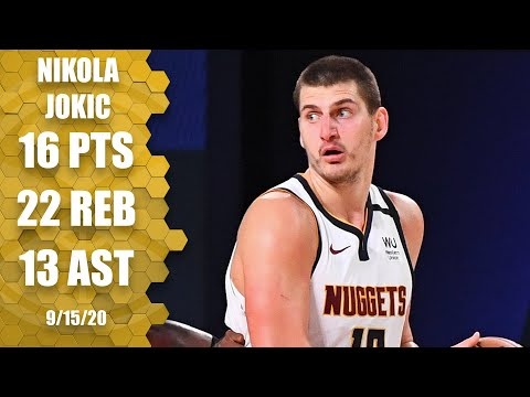 Nikola Jokic does the opposite of choking - records triple-double (16pts/22reb/13ast) in 2020 WCSF Game 7