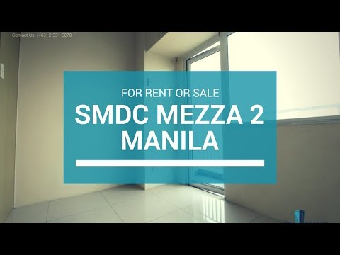 SMDC Mezza 2 Residences. Condo in Sta Mesa For Sale ₱ 4M or For Rent 20K