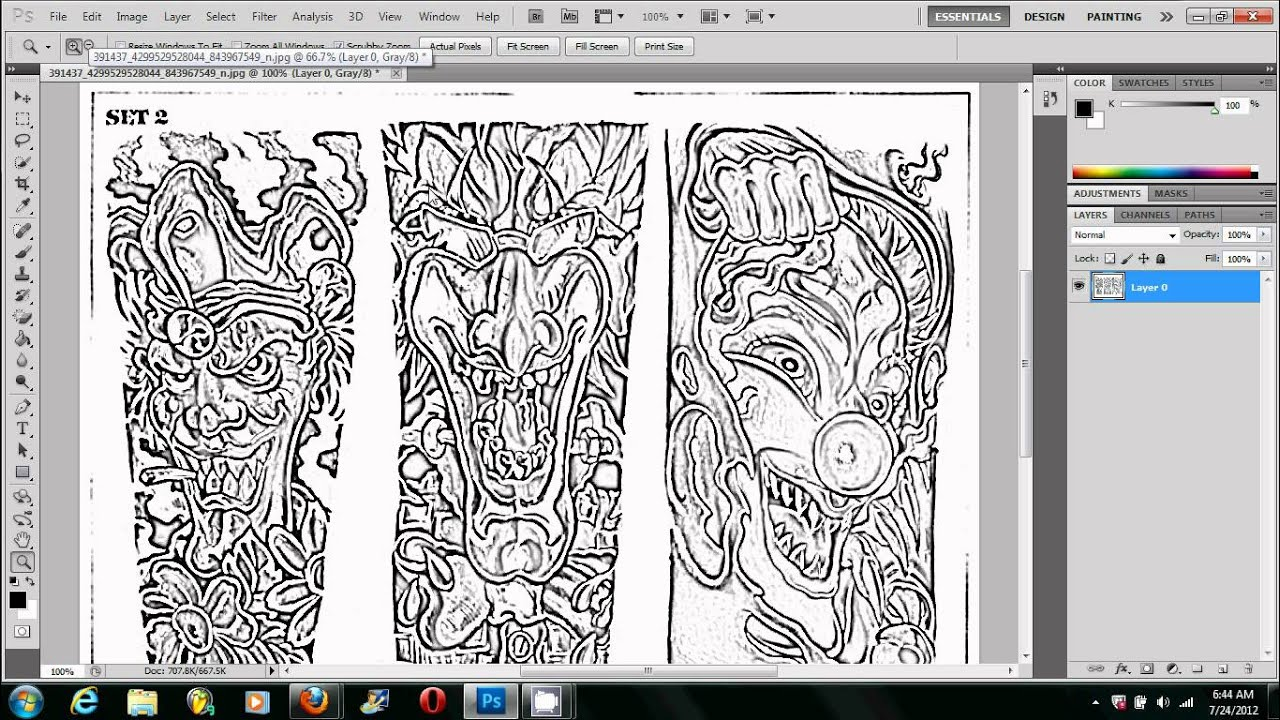Making a tattoo stencil using photoshop the right way for Making a blueprint online