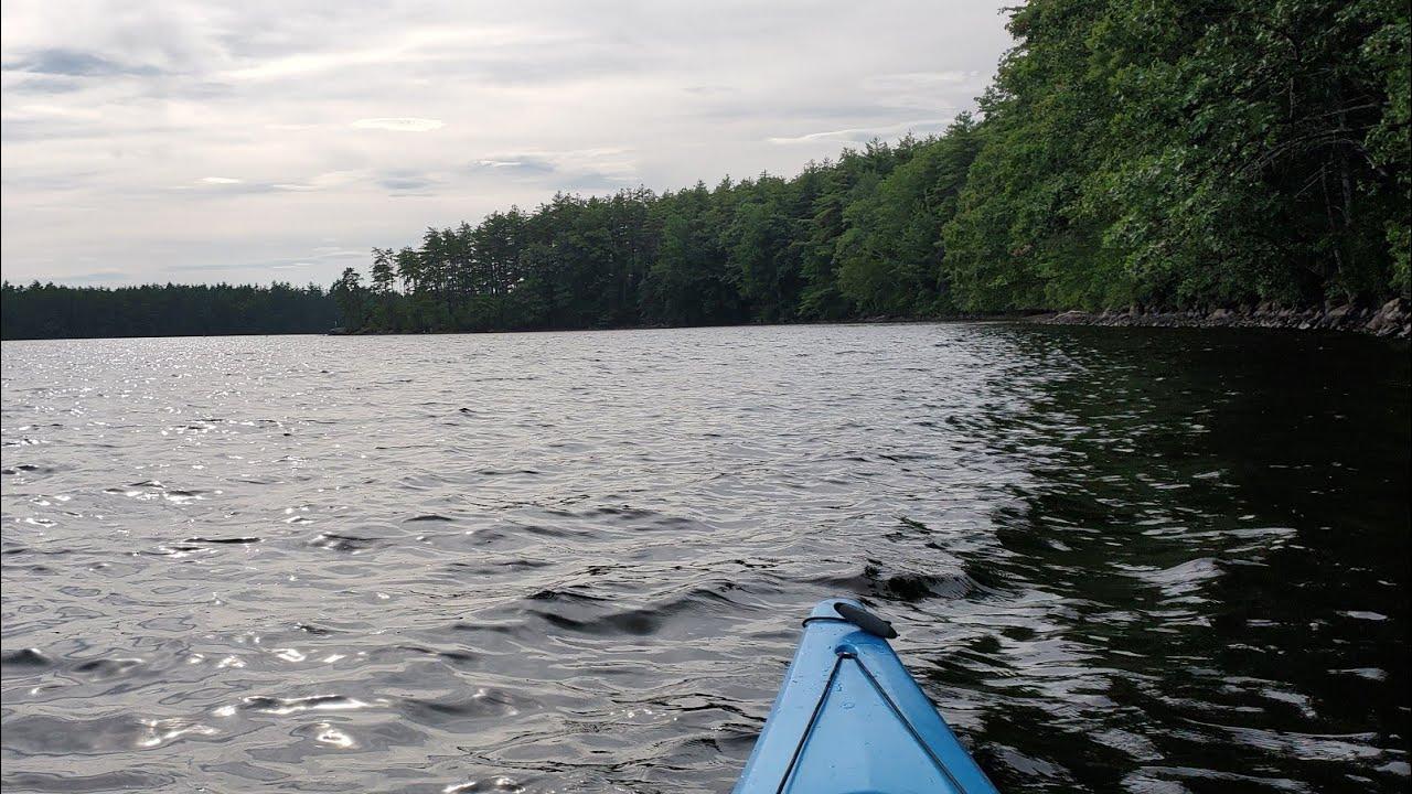 Massabesic Lake, In Manchester, New Hampshire. Stock Image