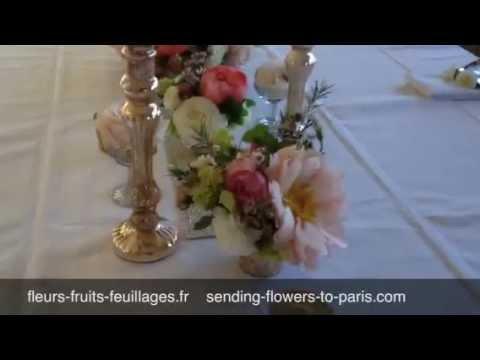 D coration florale mariage au pied de la tour eiffel youtube for Decoration florale centre de table