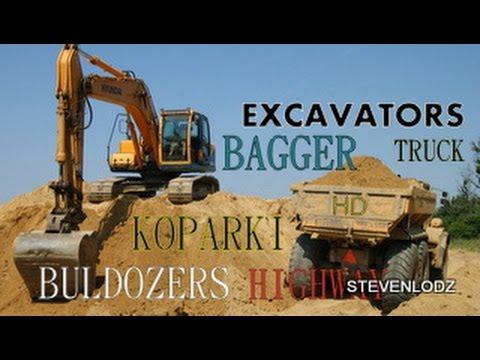 Máy xúc, máy ủi, xe ben, xe tải -  Excavators, bulldozers, dump trucks, truck