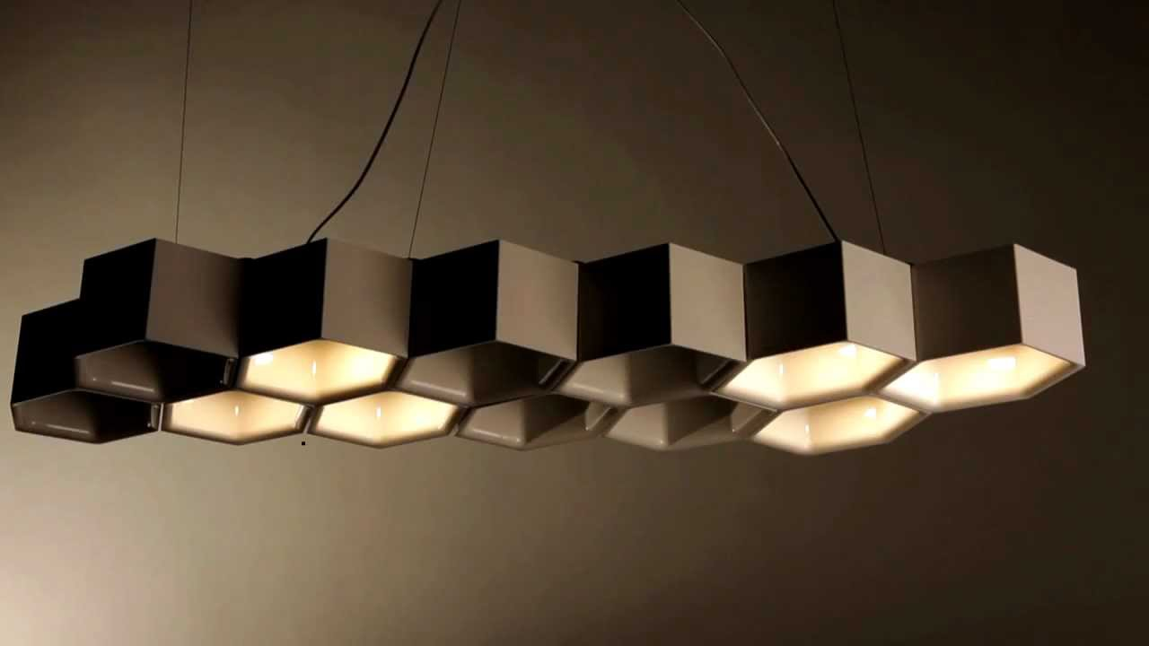 Luceplan Honeycomb Suspension Light System Youtube