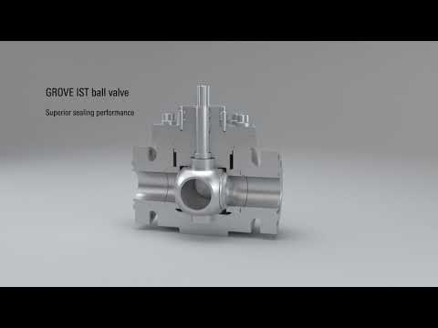 Schlumberger GROVE IST Integrated Seat Technology Ball Valve