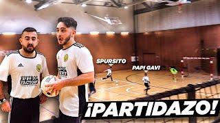 Partidazo de FÚTBOL SALA de Papi Gavi y Spursito