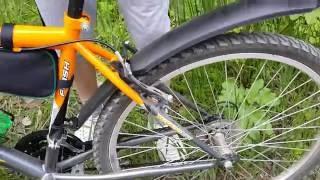 Новый горный велосипед  Mikado Flash с 18 скоростями, за 7000 рублей, в 2016 г.