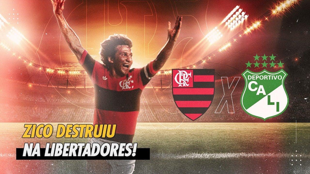 Zico brilhou! Dois gols dele e Mengão na final! (Flamengo 3 x 0 Deportivo Cali - Libertadores 1981)