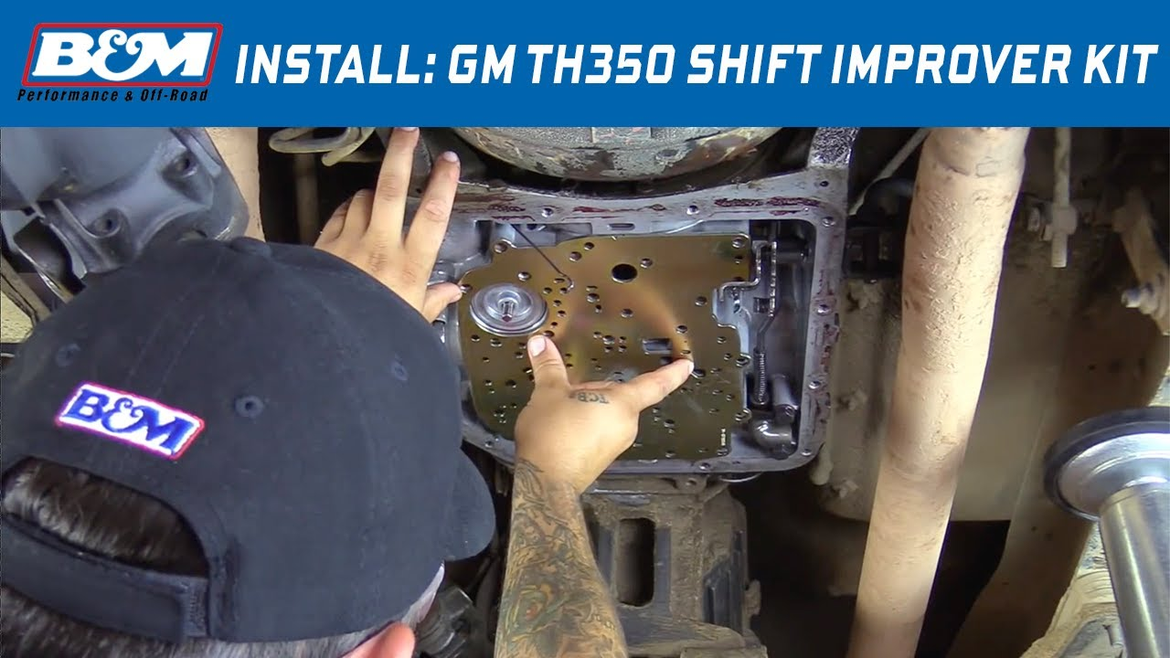 small resolution of install b m shift improver kit 30262 for 1968 81 gm th350 automatic transmissions