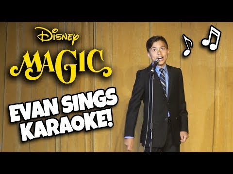 EVAN SINGS ON THE DISNEY MAGIC!!! Sea Day Karaoke! Mediterranean Cruise Week