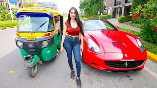 GIRL DRIVING FERRARI IN INDIA !!!