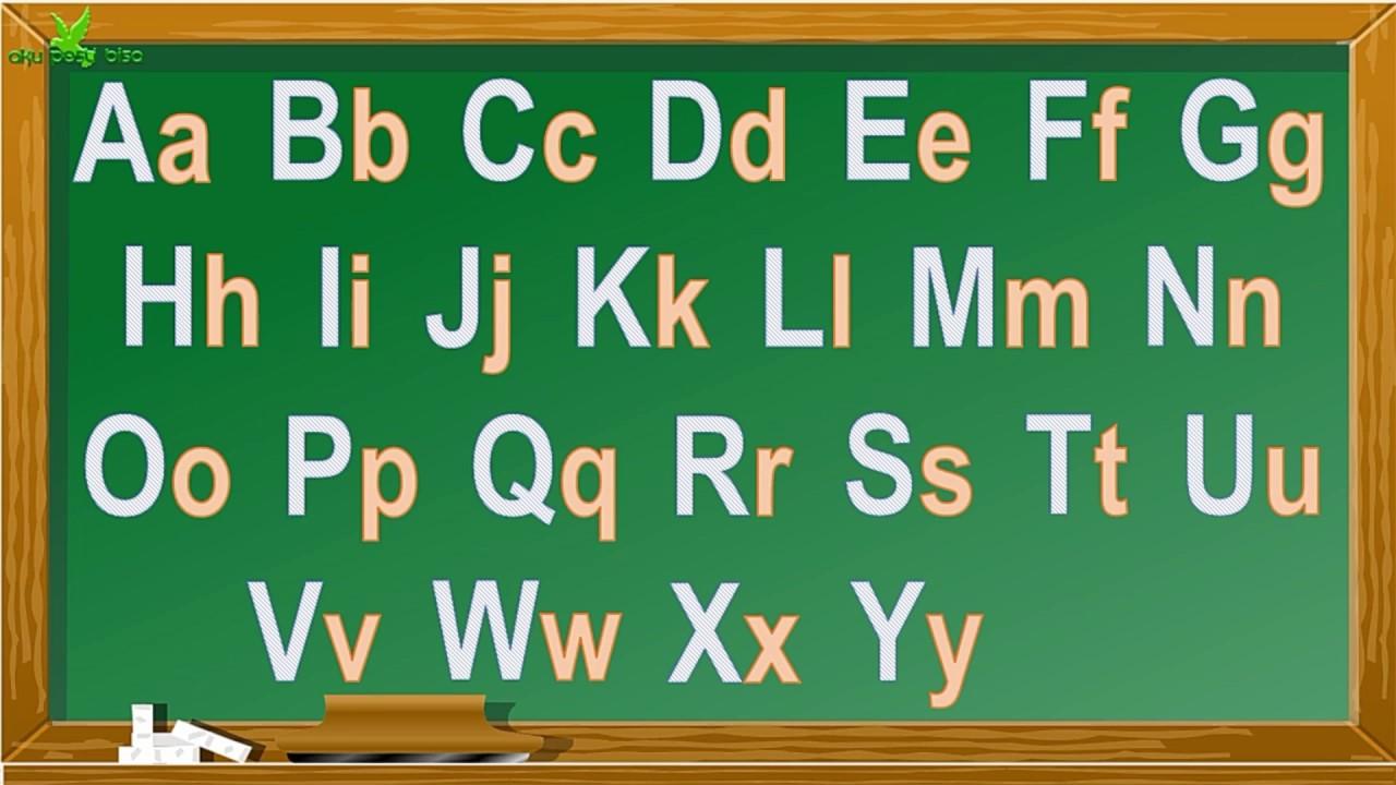 Belajar Membaca Huruf Abjad Besar Kecil Alfabet Papan Hijau Part 1 Aku Pasti Bisa Youtube
