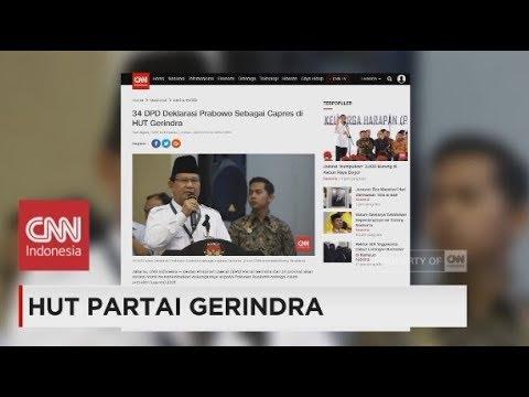 HUT Partai Gerindra, 34 DPD Gerindra Deklarasikan Prabowo Sebagai Capres 2019