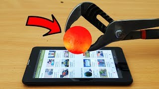 EXPERIMENT Glowing 1000 Degree METAL BALL vs Tablet