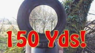 Food Can At 150 Yards! Air Rifle SMK SYNSG .22