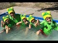 FIVE LITTLE SPECKLED FROGS BEST EVER!! NURSERY RHYME FUNNY! 5