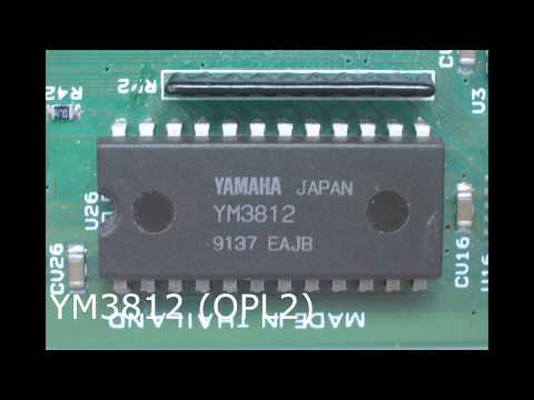 Yamaha soundchip's (OPL series) music samples.