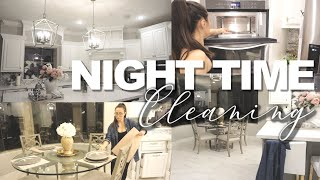NIGHT TIME CLEANING ROUTINE || RELAXING CLEAN WITH ME