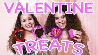 DIY Valentine&#39s Day Heart Treats! (Haschak Sisters)