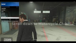 How to become President of a Motorcycle Club in GTA 5 Online