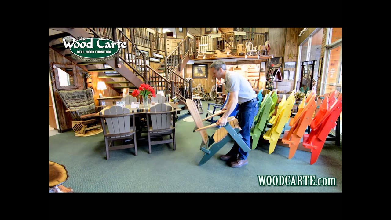 How To Unfold Your Polywood Folding Adirondack Chair!